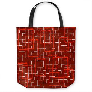 Unique Shoulder Bag Tote Bags | Susie Kunzelman - Geometrics Hottie | Lines square rectangles pattern