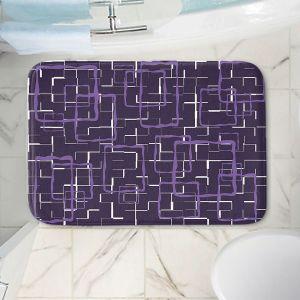 Decorative Bathroom Mats   Susie Kunzelman - Geometrics Plum   Lines square rectangles pattern