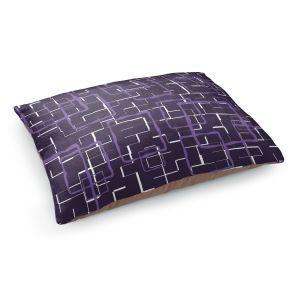 Decorative Dog Pet Beds | Susie Kunzelman - Geometrics Plum | Lines square rectangles pattern