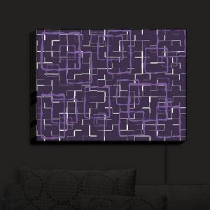 Nightlight Sconce Canvas Light | Susie Kunzelman - Geometrics Plum