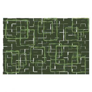 Decorative Floor Covering Mats | Susie Kunzelman - Geometrics Treetop | Lines square rectangles pattern