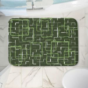 Decorative Bathroom Mats | Susie Kunzelman - Geometrics Treetop | Lines square rectangles pattern