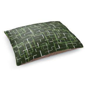 Decorative Dog Pet Beds | Susie Kunzelman - Geometrics Treetop | Lines square rectangles pattern
