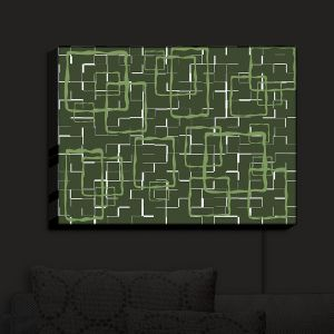 Nightlight Sconce Canvas Light | Susie Kunzelman - Geometrics Treetop