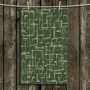 Unique Bathroom Towels | Susie Kunzelman - Geometrics Treetop | Lines square rectangles pattern