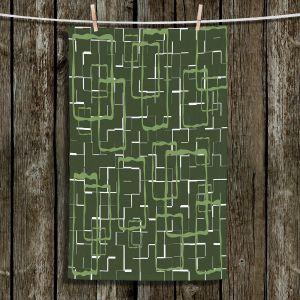 Unique Bathroom Towels | Susie Kunzelman - Geometrics Treetop | Lines square rectangles pattern