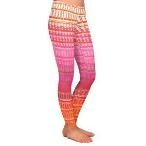 Casual Comfortable Leggings | Susie Kunzelman - Geo Squared 1 | Geometric pattern