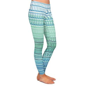 Casual Comfortable Leggings | Susie Kunzelman - Geo Squared 2 | Geometric pattern