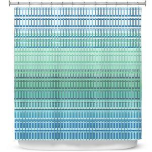 Premium Shower Curtains | Susie Kunzelman - Geo Squared 2 | Geometric pattern
