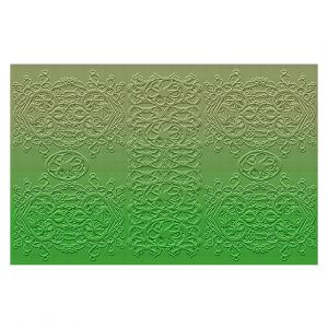Decorative Floor Covering Mats | Susie Kunzelman - Grandma's Lace Online Lime | Pattern ombre