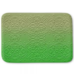 Decorative Bathroom Mats | Susie Kunzelman - Grandma's Lace Online Lime | Pattern ombre