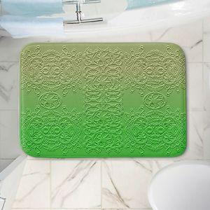 Decorative Bathroom Mats | Susie Kunzelman - Grandma's Lace Online Lime | Pattern ombre