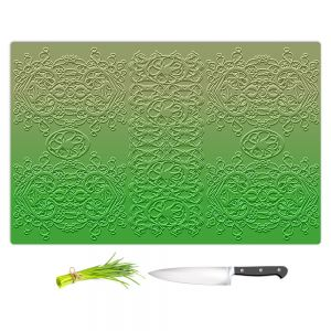 Artistic Kitchen Bar Cutting Boards | Susie Kunzelman - Grandma's Lace Online Lime | Pattern ombre