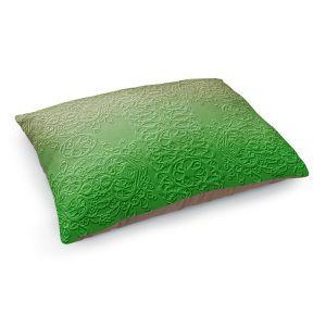 Decorative Dog Pet Beds | Susie Kunzelman - Grandma's Lace Online Lime | Pattern ombre