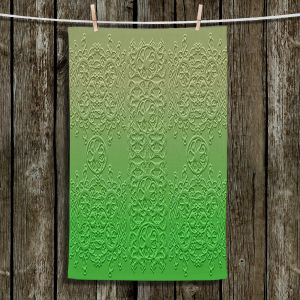 Unique Bathroom Towels | Susie Kunzelman - Grandma's Lace Online Lime | Pattern ombre
