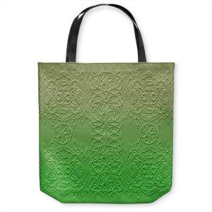 Unique Shoulder Bag Tote Bags | Susie Kunzelman - Grandma's Lace Online Lime | Pattern ombre