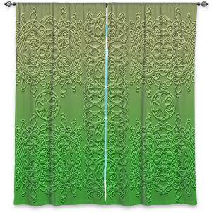 Decorative Window Treatments   Susie Kunzelman - Grandma's Lace Online Lime   Pattern ombre