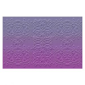 Decorative Floor Covering Mats | Susie Kunzelman - Grandma's Lace Smokey Grape | Pattern ombre