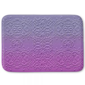 Decorative Bathroom Mats | Susie Kunzelman - Grandma's Lace Smokey Grape | Pattern ombre