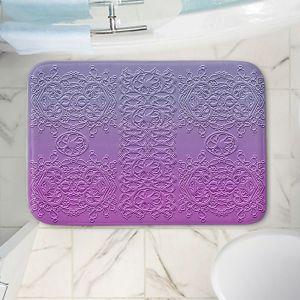 Decorative Bathroom Mats | Susie Kunzelman - Grandma's Lace Smokey Grape | Pattern ombre