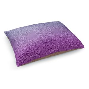 Decorative Dog Pet Beds | Susie Kunzelman - Grandma's Lace Smokey Grape | Pattern ombre