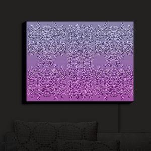 Nightlight Sconce Canvas Light | Susie Kunzelman - Grandmas Lace Smokey Grape