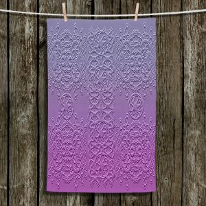 Unique Bathroom Towels | Susie Kunzelman - Grandma's Lace Smokey Grape | Pattern ombre