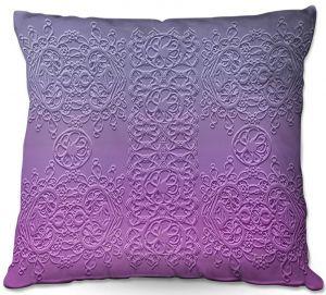 Throw Pillows Decorative Artistic | Susie Kunzelman - Grandma's Lace Smokey Grape | Pattern ombre