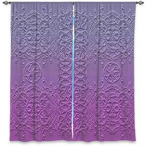 Decorative Window Treatments   Susie Kunzelman - Grandma's Lace Smokey Grape   Pattern ombre