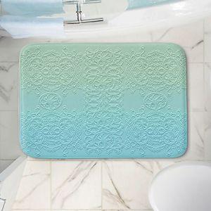 Decorative Bathroom Mats | Susie Kunzelman - Grandma's Lace Spa Blue | Pattern ombre