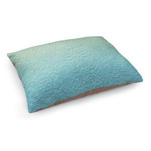 Decorative Dog Pet Beds | Susie Kunzelman - Grandma's Lace Spa Blue | Pattern ombre