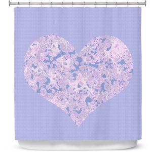 Premium Shower Curtains | Susie Kunzelman - Heart Love Serenity