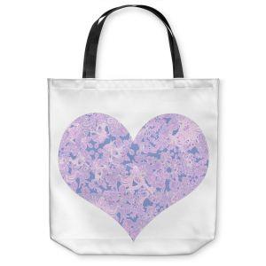 Unique Shoulder Bag Tote Bags | Susie Kunzelman - Heart Love White Serenity