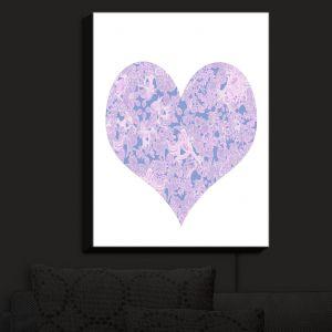 Nightlight Sconce Canvas Light   Susie Kunzelman - Heart Love White Serenity   Shapes Femenine