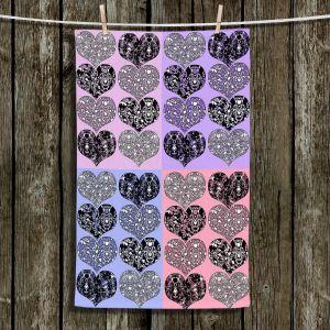 Unique Bathroom Towels | Susie Kunzelman - Hearts in Lavenders | love pattern pop art