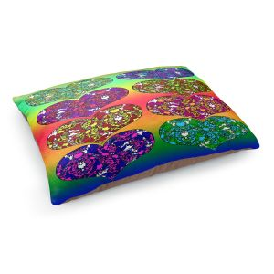 Decorative Dog Pet Beds | Susie Kunzelman - Hearts in Tie Dye 2 | rainbow pattern love