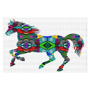 Decorative Floor Covering Mats | Susie Kunzelman - Horse Rainbow 1 | silhouette nature animal