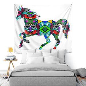 Artistic Wall Tapestry   Susie Kunzelman - Horse Rainbow 1   silhouette nature animal