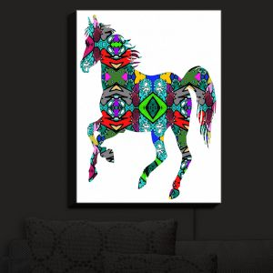 Nightlight Sconce Canvas Light | Susie Kunzelman - Horse Rainbow 1