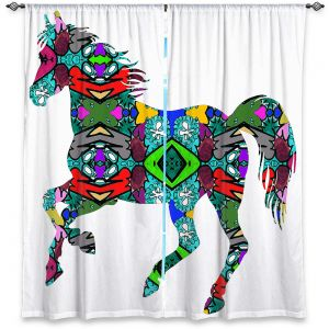 Decorative Window Treatments | Susie Kunzelman - Horse Rainbow 1 | silhouette nature animal