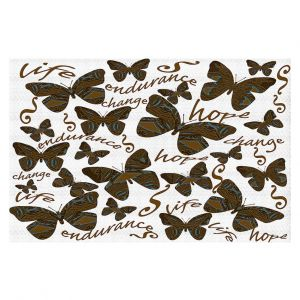 Decorative Floor Covering Mats | Susie Kunzelman - Inspirational Butterfly | insect nature beauty support