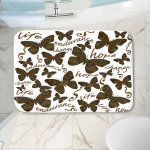 Decorative Bathroom Mats | Susie Kunzelman - Inspirational Butterfly | insect nature beauty support