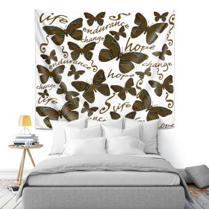Artistic Wall Tapestry   Susie Kunzelman - Inspirational Butterfly   insect nature beauty support