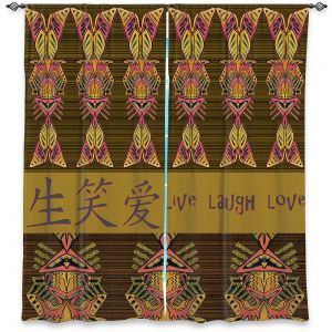 Decorative Window Treatments | Susie Kunzelman - Japanese Live Laugh Love | language text pattern