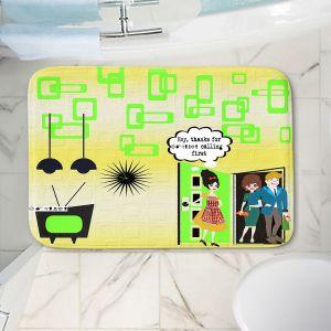 Decorative Bathroom Mats | Susie Kunzelman - Just Sayin | People Abstract Pattern