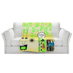 Artistic Sherpa Pile Blankets | Susie Kunzelman - Just Sayin | People Abstract Pattern
