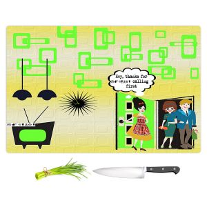 Artistic Kitchen Bar Cutting Boards | Susie Kunzelman - Just Sayin | People Abstract Pattern