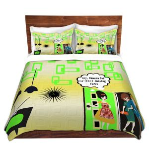 Artistic Duvet Covers and Shams Bedding   Susie Kunzelman - Just Sayin   People Abstract Pattern