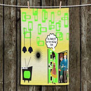 Unique Hanging Tea Towels | Susie Kunzelman - Just Sayin | People Abstract Pattern