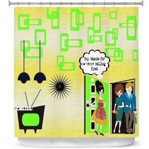 Premium Shower Curtains   Susie Kunzelman - Just Sayin   People Abstract Pattern